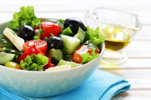 Salad With Coconut Or Olive Oil Dressing